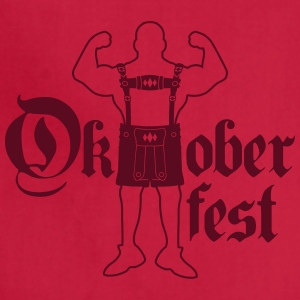 Oktoberfest text font large strong muscles bodybui T-Shirts - Adjustable Apron