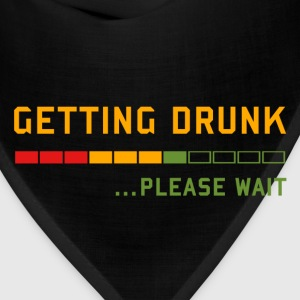 Beer - Getting Drunk, Please Wait ... T-Shirts - Bandana