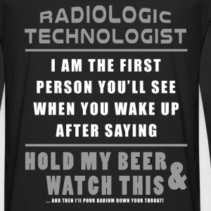 Rad Tech - Hold My Beer And Watch This Hoodies - Men's Premium Long Sleeve T-Shirt