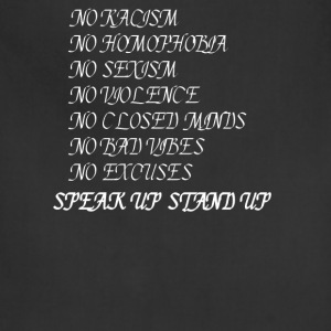 Stand up Speak up T-Shirts - Adjustable Apron