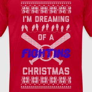I'm Dreaming of A Fightins Christmas Long Sleeve Shirts - Men's T-Shirt by American Apparel