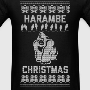 Harambe Christmas Long Sleeve Shirts - Men's T-Shirt