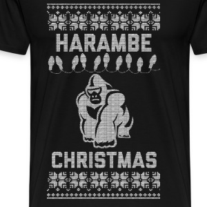 Harambe Christmas Long Sleeve Shirts - Men's Premium T-Shirt
