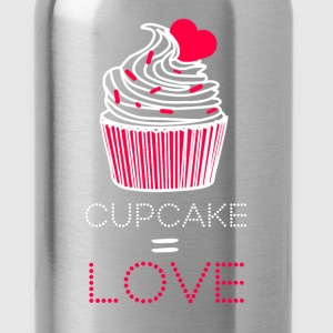 Cupcake = love - Water Bottle