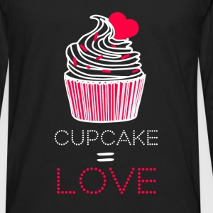 Cupcake = love - Men's Premium Long Sleeve T-Shirt