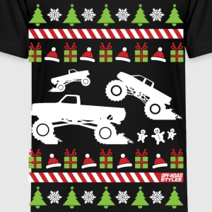 Mud Truck Ugly Christmas Kids' Shirts - Toddler Premium T-Shirt