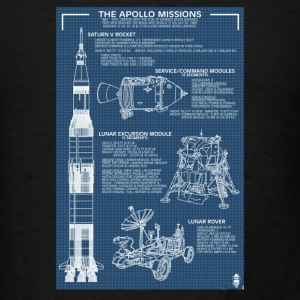 Apollo Missions Blueprint Poster - Men's T-Shirt