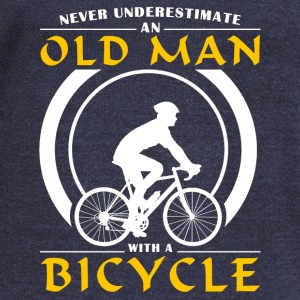 Cycling - Never Underestimate An Old Man With A Bi Hoodies - Women's Wideneck Sweatshirt