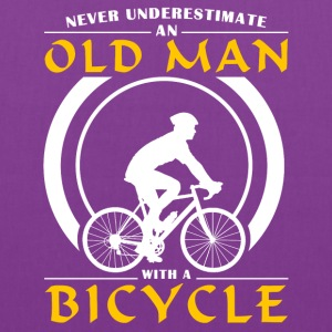 Cycling - Never Underestimate An Old Man With A Bi Hoodies - Tote Bag