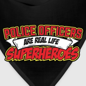 Police Officers Are Real Life Superheroes Hoodies - Bandana