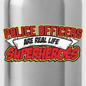 Police Officers Are Real Life Superheroes Hoodies - Water Bottle