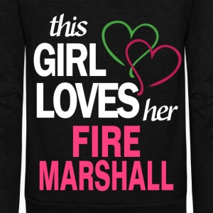 This girl loves her FIRE MARSHALL T-Shirts - Unisex Fleece Zip Hoodie by American Apparel