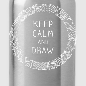 Keep calm and draw - Water Bottle
