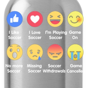 I Love Soccer Emotion Shirt - Water Bottle