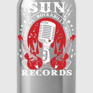 Sun Records Steady Mens Black Rockabilly Music - Water Bottle