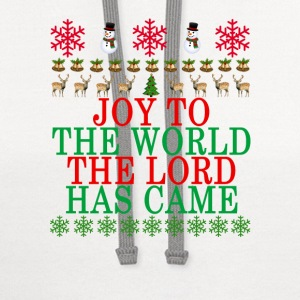 joy_to_the_world_the_lord_has_came_ - Contrast Hoodie
