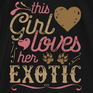 This Girl Loves Her Exotic Cat Hoodies - Men's Premium T-Shirt