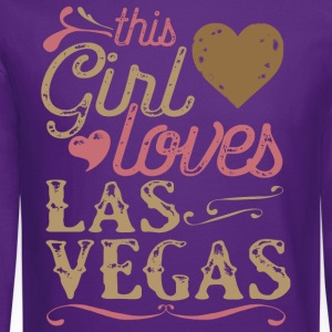 This Girl Loves Las Vegas T-Shirts - Crewneck Sweatshirt