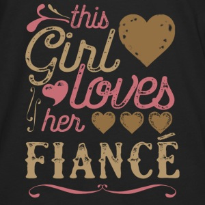 This Girl Loves Her Fiance (Engagement) Hoodies - Men's Premium Long Sleeve T-Shirt