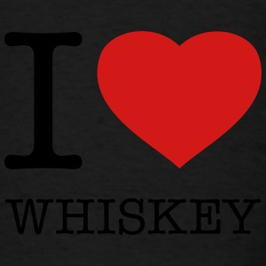 I LOVE WHISKEY - Men's T-Shirt