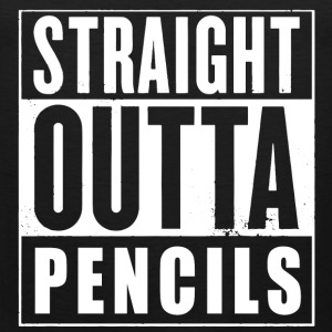 Straight Outta Pencils T-Shirts - Men's Premium Tank