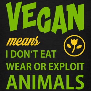 WHAT VEGAN MEANS Sportswear - Men's T-Shirt