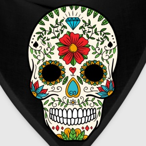 Sugar Skull - Day of the Dead #8 T-Shirts - Bandana