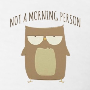 owl not a morning person - Men's T-Shirt