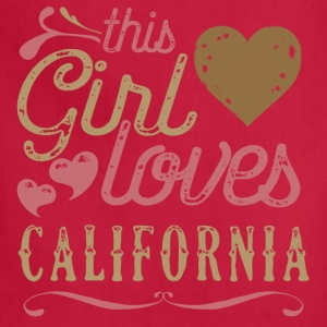 This Girl Loves California T-Shirts - Adjustable Apron