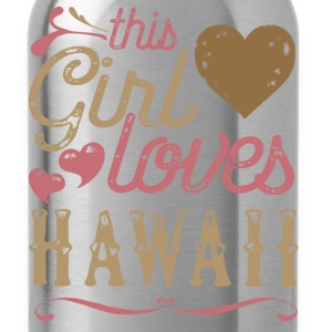 This Girl Loves Hawaii T-Shirts - Water Bottle