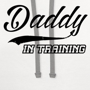 DADDY IN TRAINING 1.png T-Shirts - Contrast Hoodie
