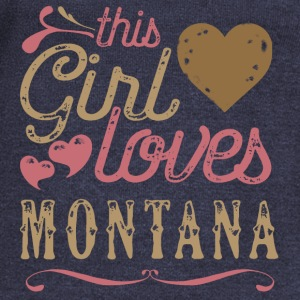 This Girl Loves Montana Hoodies - Women's Wideneck Sweatshirt
