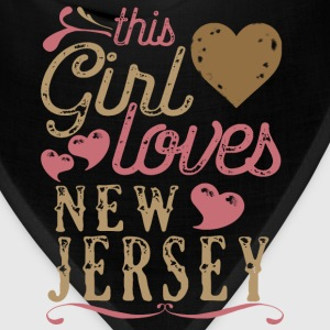 This Girl Loves New Jersey T-Shirts - Bandana