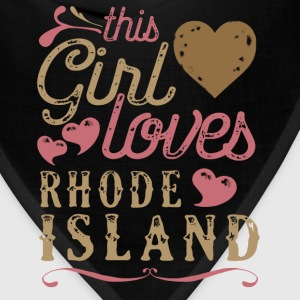 This Girl Loves Rhode Island T-Shirts - Bandana