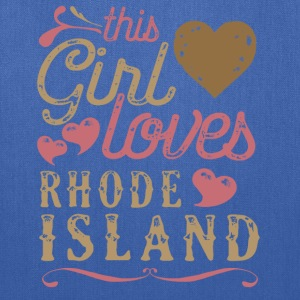This Girl Loves Rhode Island T-Shirts - Tote Bag