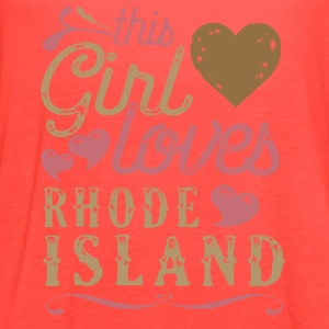 This Girl Loves Rhode Island T-Shirts - Women's Flowy Tank Top by Bella