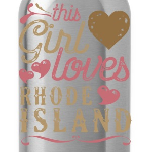 This Girl Loves Rhode Island T-Shirts - Water Bottle