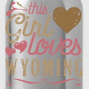 This Girl Loves Wyoming T-Shirts - Water Bottle