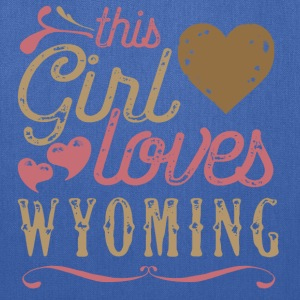 This Girl Loves Wyoming T-Shirts - Tote Bag