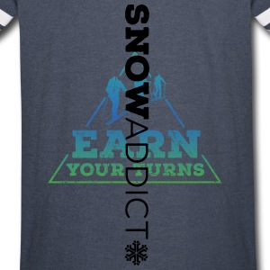 Earn your turns + sleeve - Vintage Sport T-Shirt