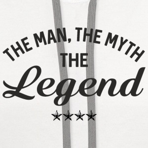 THE MAN THE MYTH THE LEGEND Baby & Toddler Shirts - Contrast Hoodie