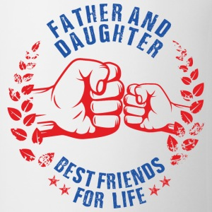 FATHER AND DAUGHTER BEST FRIENDS FOR LIFE USA Baby & Toddler Shirts - Coffee/Tea Mug