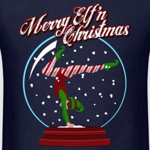 Merry Elf'n Gymnast Long Sleeve Shirts - Men's T-Shirt