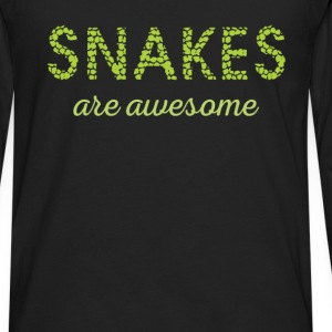 Snakes are aswesome - Men's Premium Long Sleeve T-Shirt