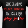 Some Grandpas play bingo. Real Grandpas play guita - Men's T-Shirt