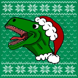 Ugly T-Rex Christmas Sweater - Men's Premium T-Shirt