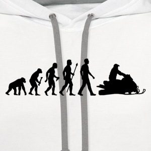 Snowmobile Evolution - Contrast Hoodie