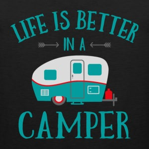 Life's Better In A Camper T-Shirts - Men's Premium Tank