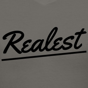 Realest Hoodie - Women's V-Neck T-Shirt