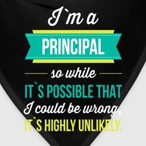 I'm a principal so while it is possible that I cou - Bandana